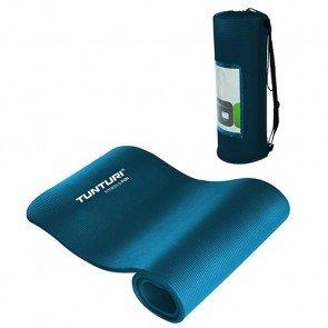 Tunturi Fitnessmat 180 x 60 cm Blauw