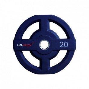 Lifemaxx LMX73 50 mm olympische halterschijf PU - 20 kg