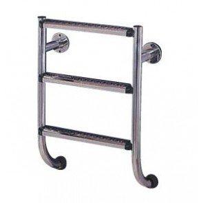 316 RVS Benedendeel 3 Treden voor Tweedelige Zwembad Ladder
