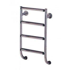 RVS 316 Benedendeel 4 Treden voor Tweedelige Zwembad Ladder