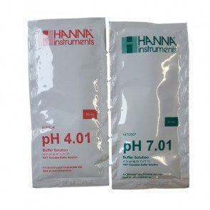 pH4 en pH7 kalibratievloeistof (2 x 6 zakjes)