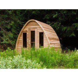 Dundalk Sauna Pod Knotty Red Cedar PS214