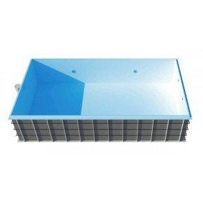 Polypropyleen zwembad Madrid 800 x 400 x 150 cm