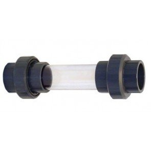 Zichtglas 50 mm met 3/3 PVC-koppeling