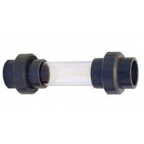 Zichtglas 63 mm met 3/3 PVC-koppeling