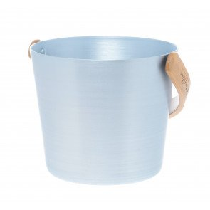 Rento aluminium sauna emmer (5 liter) met handvat - IJs Blauw