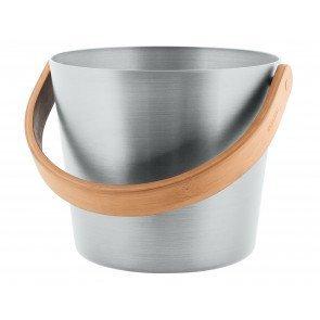 Rento aluminium sauna emmer (5 liter) met handvat - Zilver