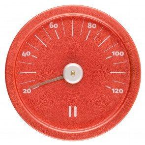 Rento aluminium sauna thermometer rond – Fiery Red
