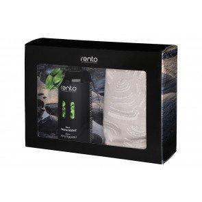 Rento cadeauset - Berken saunageur en 2 handdoeken