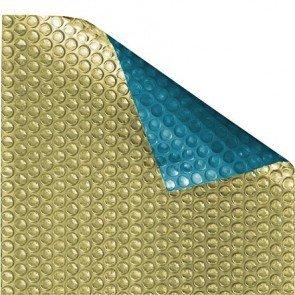 Zwembad zomerzeil Eco Goud/Blauw (noppenfolie 500 micron)