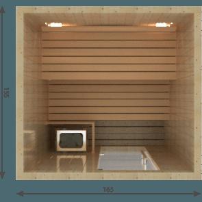 VSB Finse Sauna, Balance 165 x 155
