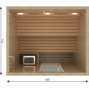 VSB Finse Sauna, Balance 185 x 155