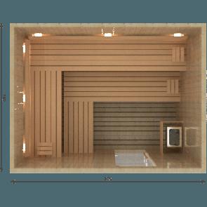 VSB Finse Sauna, Royal 275 x 210