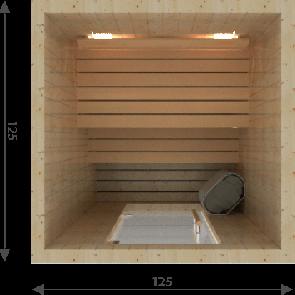 Zelfbouw Sauna 150 x 200 x 195 cm