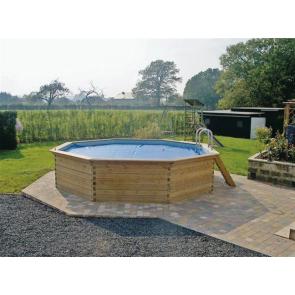 Houten Zwembad Rond 500 x 120cm - Complete set