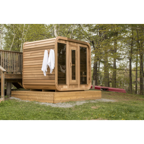 Dundalk Sauna Red Cedar Clear Luna 244 x 244 cm