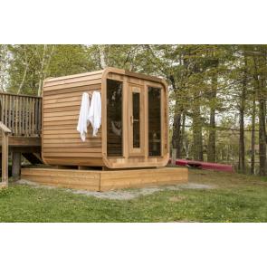 Dundalk Sauna Red Cedar Clear Luna 244 x 244 cm