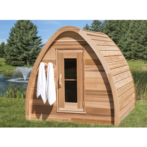 Dundalk Sauna Pod Clear Red Cedar 214 x 214 cm