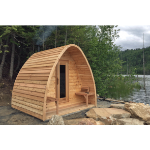 Dundalk Sauna Pod Knotty Red Cedar PS244