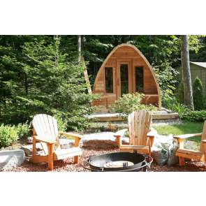 Dundalk Sauna Pod Knotty Red Cedar 244 x 182 cm