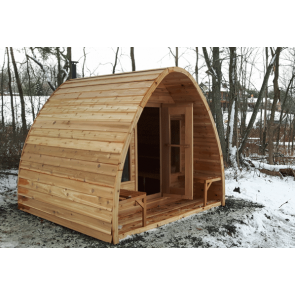 Dundalk Sauna Pod Clear Red Cedar 244 x 182 cm