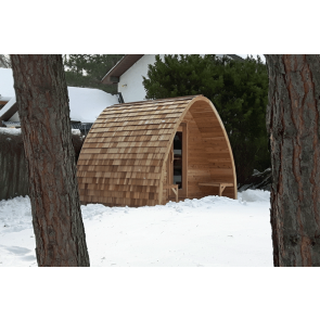Dundalk Sauna Pod Clear Red Cedar 244 x 244 cm