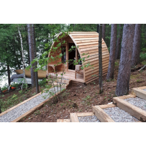 Dundalk Sauna Pod Clear Red Cedar 244 x 214 cm