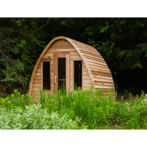 Dundalk Sauna Pod Clear Red Cedar PS214