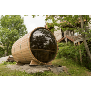 Dundalk Barrel Sauna 214 x 244 Clear Red Cedar