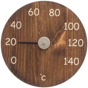 Sauna thermometer hout rond (3 kleuren)