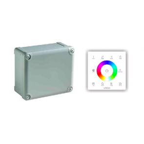 RGBW LED Controller met DMX Touch bediening (150W   24V)
