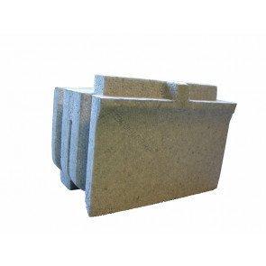 Eindstuk voor SolidBric recht bouwblok (boven/onder)