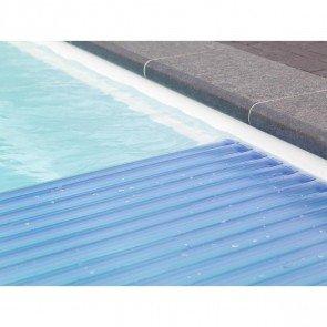 Starline Roldeck PVC lamellen - transparant blauw (per m2)