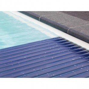 Starline Roldeck PVC lamellen - transparant blauw solar (per m2)