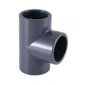 Bosta Mega T-stuk 90° PVC-U 50 mm lijmmof 16bar grijs