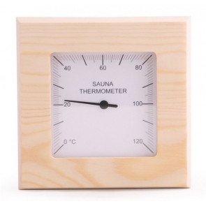 Basic sauna thermometer vierkant - Pine