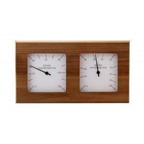 Sauna thermo-hygrometer 2-delig vierkant - Red Cedar