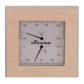 Sauna thermo-hygrometer vierkant - Espen