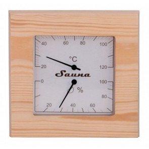Sauna thermo-hygrometer vierkant - Pine