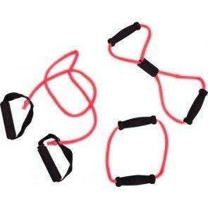 Tunturi Tubing Set met Handgrepen Rood