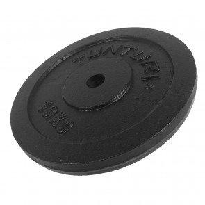 Tunturi gietijzeren halterschijf 30 mm - 10 kg (1 stuk)