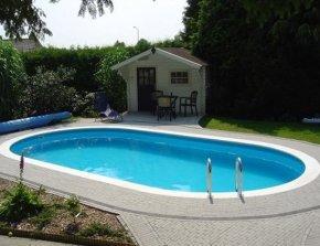 Stalen inbouw zwembad kopen rond ovaal 8 hoekig rhodos for Zwembad inbouw