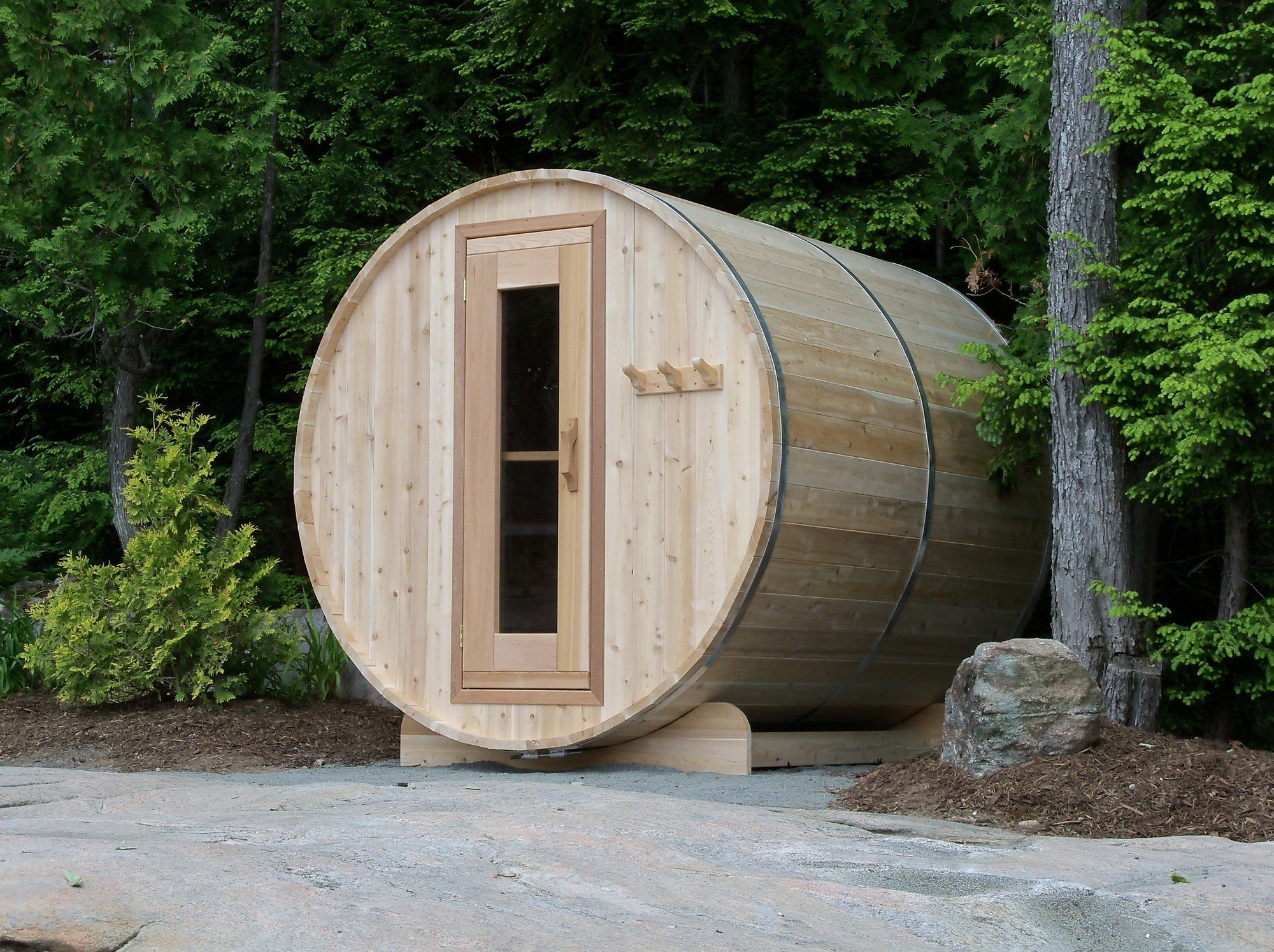 Afbeelding van Dundalk Barrel Sauna BS182 - ø182 Clear Red Cedar