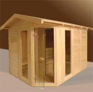 Afbeelding van VSB Sauna Massive Outdoor 200 x 300 x 260 met Voorportaal en Zadeldak