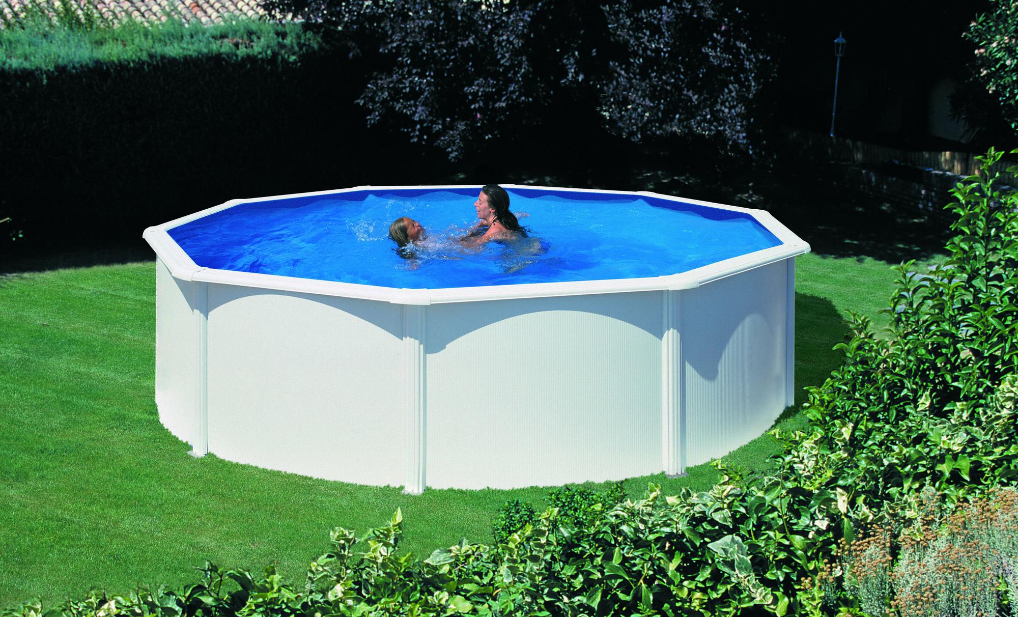 Afbeelding van Gré Fidji stalen zwembad - 240 x 120 cm