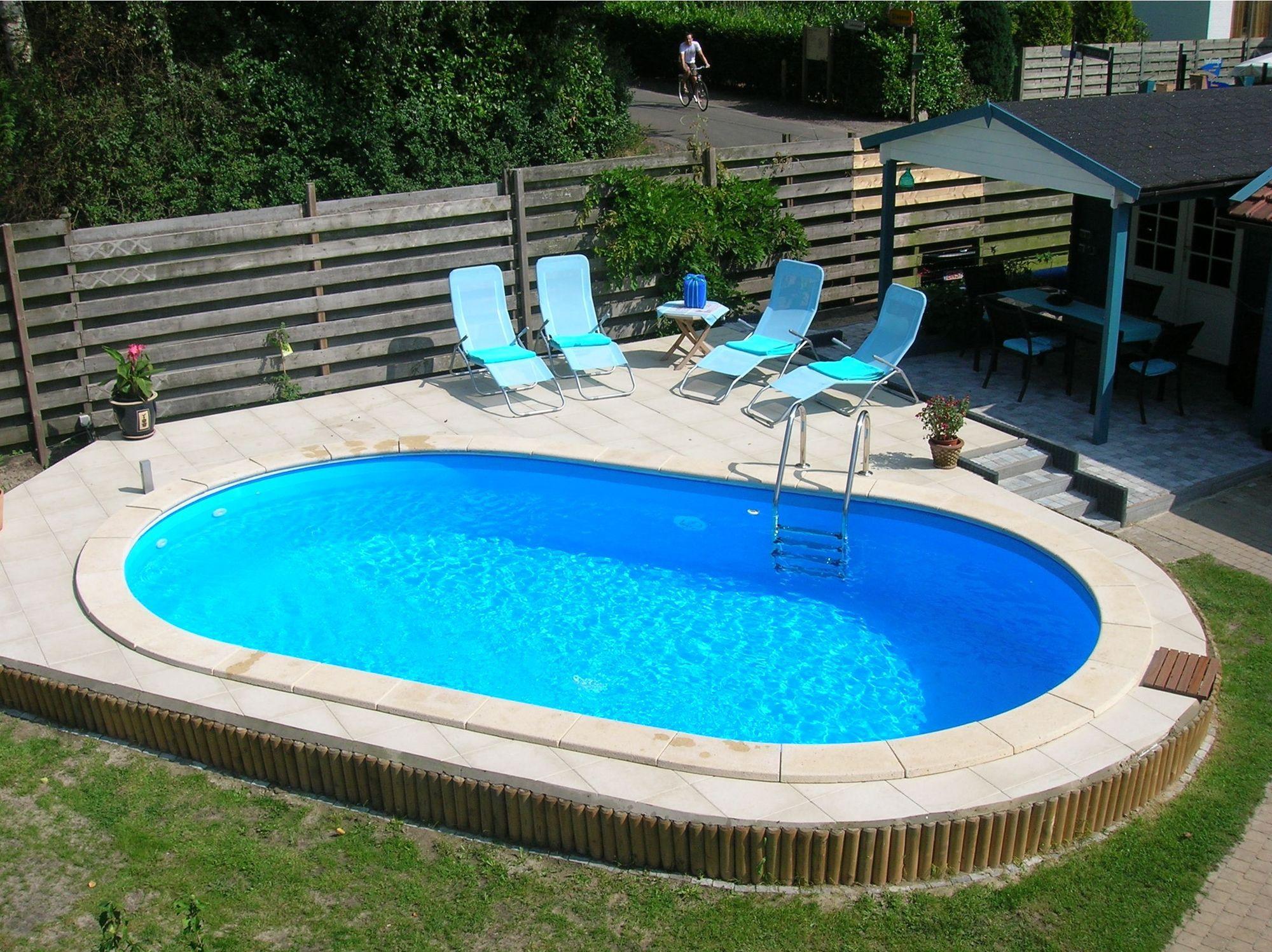Afbeelding van Happy Pool Ovaal Metalen Zwembad 586 x 350 cm (hoogte 120cm)