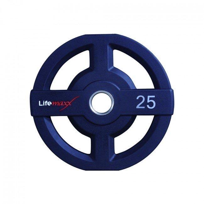 Afbeelding van Lifemaxx LMX73 50 mm olympische halterschijf PU - 25 kg