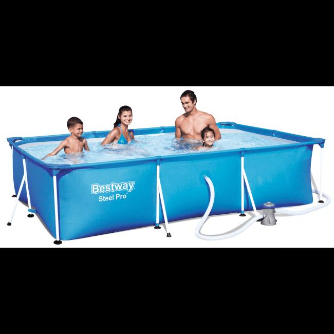 Bestway frame zwembad 300 x 201 kopen bestel online for Rechthoekig zwembad