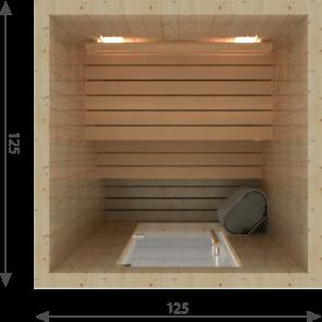 VSB Sauna Cabine Steady 125 x 125
