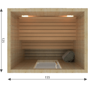 Rhodos sauna 125 x 155
